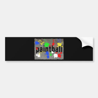 Paintball Splatter on Concrete Wall Bumper Sticker