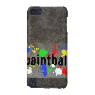 Paintball Splatter on Concrete Wall iPod Touch 5G Cover