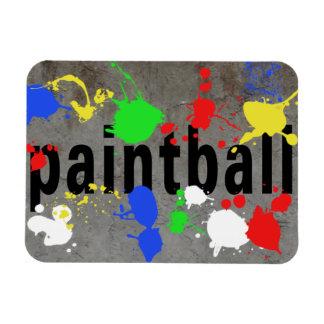 Paintball Splatter on Concrete Wall Magnet