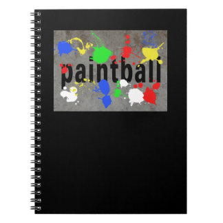 Paintball Splatter on Concrete Wall Notebook