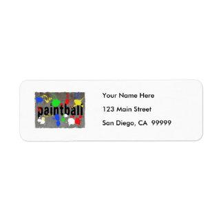 Paintball Splatter on Concrete Wall Return Address Label