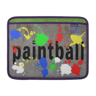 Paintball Splatter on Concrete Wall Sleeve For MacBook Air