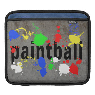 Paintball Splatter on Concrete Wall Sleeves For iPads