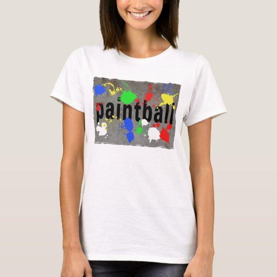 Paintball Splatter on Concrete Wall T-Shirt