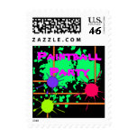Paintball Splatter Party Stamps Paint Spatters