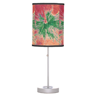 Paintball Splattered Lampshade in Red and Green Desk Lamps