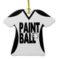 Paintball Sport Jersey with Photo Christmas Ornament