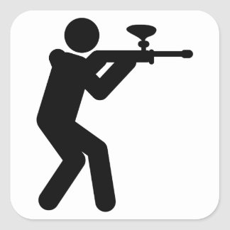 Paintball Square Sticker