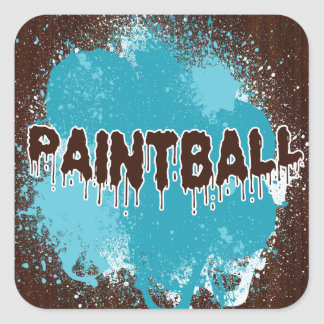 Paintball Square Stickers