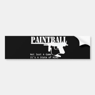 Paintball State of Mind Bumper Sticker