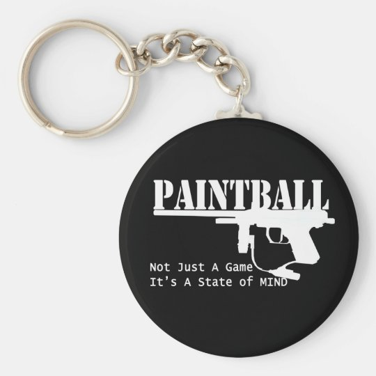 Paintball State of Mind Keychain