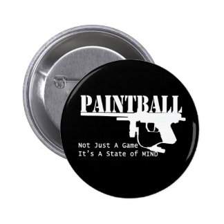 Paintball State of Mind Pinback Button