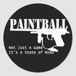 Paintball State of Mind Round Stickers