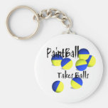 Paintball takes Balls Key Chain