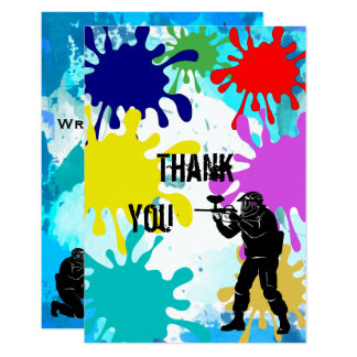 """Paintball """"Thank You"""" Card"""