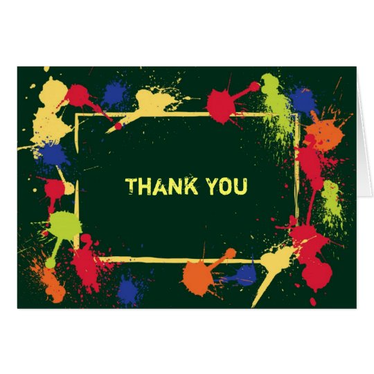 Paintball Thank You Card
