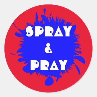 Paintball Themed Paint Splat Gun Shot Classic Round Sticker
