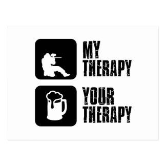 paintball therapy designs postcard