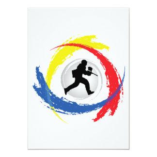 Paintball Tricolor Emblem Card