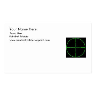 Paintball Tristate Double-Sided Standard Business Cards (Pack Of 100)