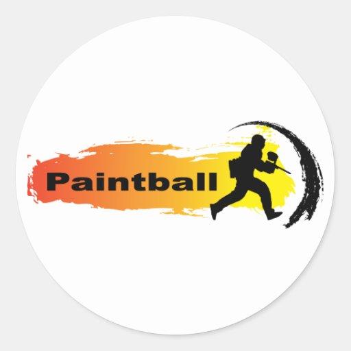 Paintball único pegatina redonda