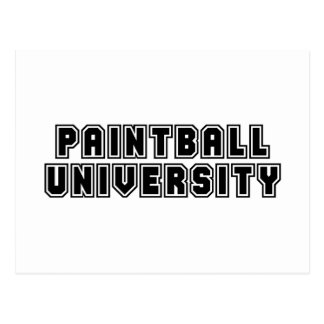 Paintball University Postcard