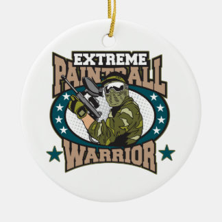 Paintball Warrior Ceramic Ornament