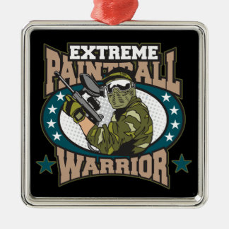 Paintball Warrior Metal Ornament