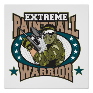 Paintball Warrior Poster