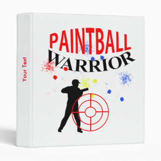 Paintball Warrior Themed Graphic 3 Ring Binder