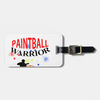Paintball Warrior Themed Graphic Bag Tag