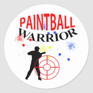 Paintball Warrior Themed Graphic Classic Round Sticker