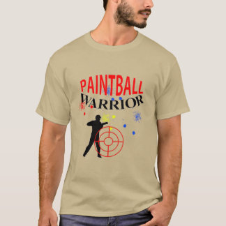 Paintball Warrior Themed Graphic T-Shirt