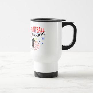 Paintball Warrior Themed Graphic Travel Mug