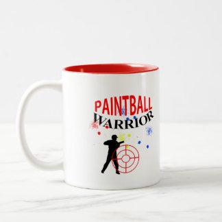 Paintball Warrior Themed Graphic Two-Tone Coffee Mug