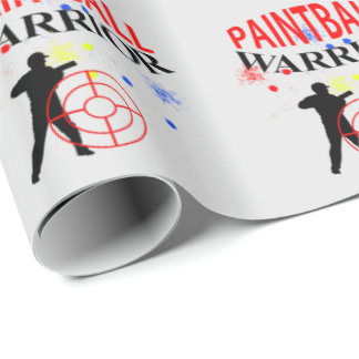 Paintball Warrior Themed Graphic Wrapping Paper