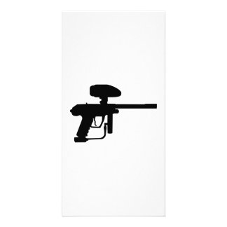 Paintball weapon photo card