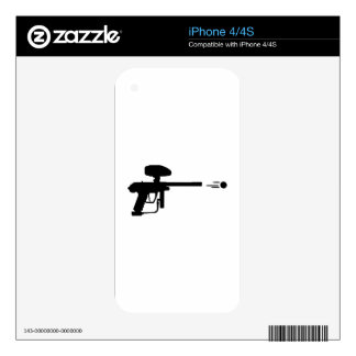 Paintball weapon shoot decal for the iPhone 4S