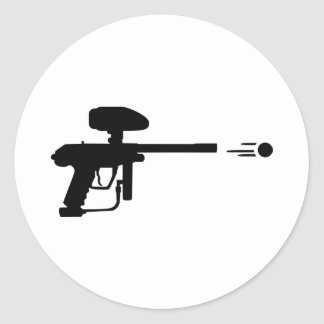 Paintball weapon shoot round stickers