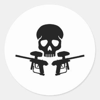 Paintball weapon skull sticker
