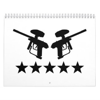 Paintball weapon stars calendar