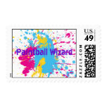 Paintball Wizard Postage Stamp