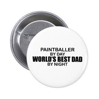 Paintballer - World's Best Dad by Night Pinback Button