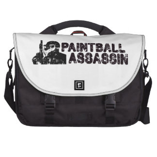 Paintballing Assassin Laptop Messenger Bag