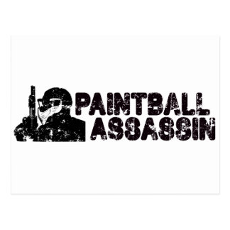 Paintballing Assassin Postcard
