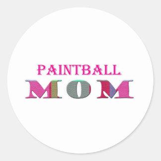 PaintballMom Classic Round Sticker