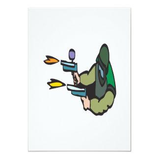 """Paintballs del tiroteo invitación 5"""" x 7"""""""