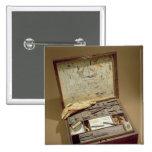Paintbox of John James Audubon 2 Inch Square Button