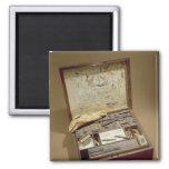 Paintbox of John James Audubon 2 Inch Square Magnet