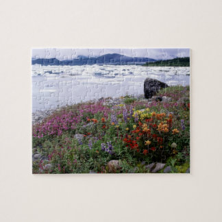 Paintbrush, Lupine, Fireweed. Icebergs Russell Jigsaw Puzzle